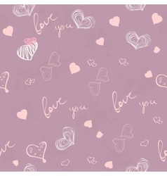Seamless texture for valentines day vector