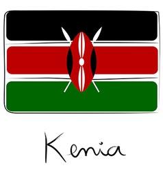 Kenia flag doodle vector