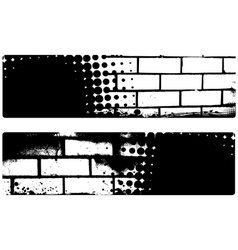 Grunge brickwall banners vector