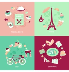 Paris city set vector