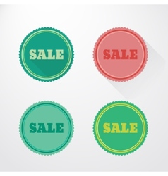 Flat sale stickers vector