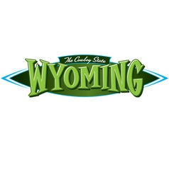 Wyoming the cowboy state vector