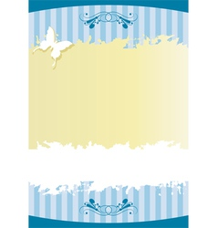 Paper with stripes and butterflies vector