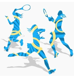 Womens tennis sport vector