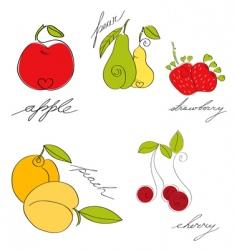Set of fruit vector