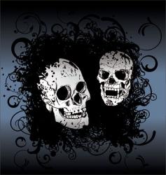 Skull tattoo background vector