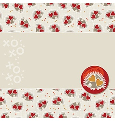 Cute valentine cards vector