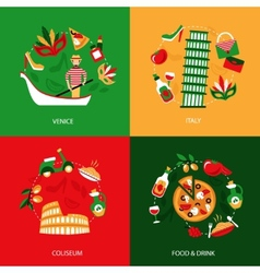 Italy decorative set vector