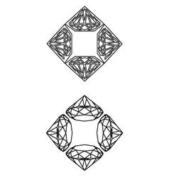 Square-diamondz-decor vector