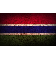 Flag of gambia with old texture vector