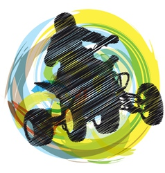 Sportsman riding quad bike vector
