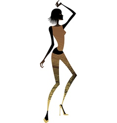 Funky exotic dancer vector