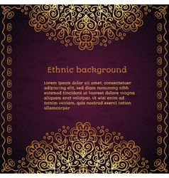 Vintage ethnic background vector