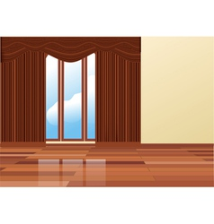 Brown curtains vector