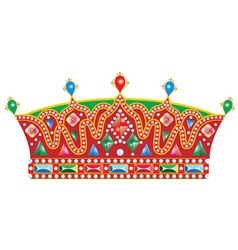 Medieval slavic king crown vector