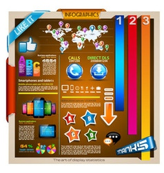 Infographic with a lot of design elements vector