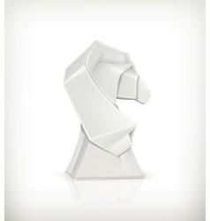Paper horse origami vector