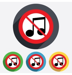 No music note sign icon musical symbol vector