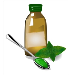 Therapy mint syrup in a bottle vector