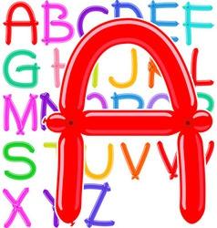 Balloon alphabet vector