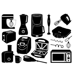 Set of kitchen appliances vector