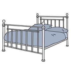 Metal bed vector