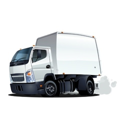 Cartoon delivery or cargo truck vector