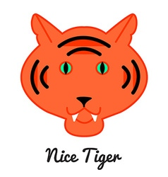 Tiger logo or icon in color wild ca vector