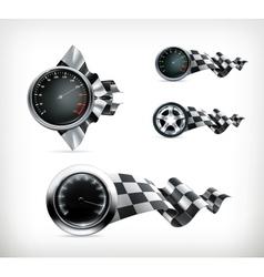 Racing emblems vector