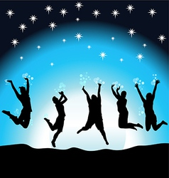 Party night in the moonlight vector