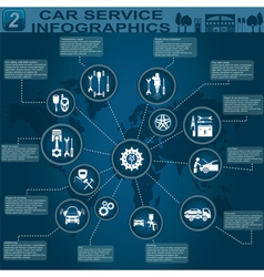 Car service infographics 4 vector