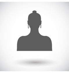 Female avatar single icon vector