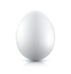 Silver egg icon vector