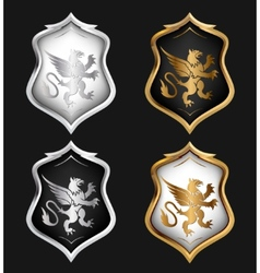 Heraldry shields set vector