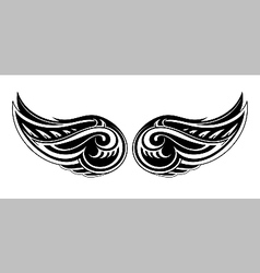 Tribal wings design vector