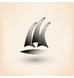 Yacht club logo halftone stylized vector