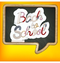 Back to school sign eps 10 vector