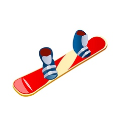 Icon snowboard vector