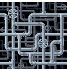 Seamless pipes background vector