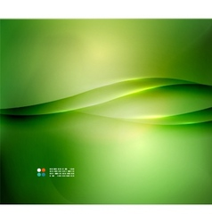 Fresh green blur wave and colors vector