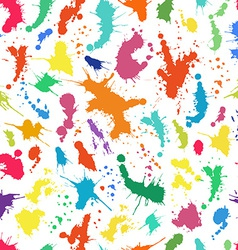 Seamless pattern with ink splashes vector