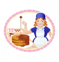 Woman pastry cook vector