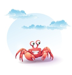 Merry crab on a background of sky vector