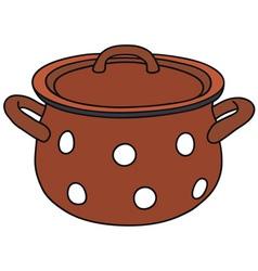 Red pot vector