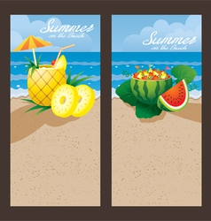 Pineapple watermelon cocktail backdrop vector