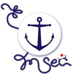 Nautical design anchor vector