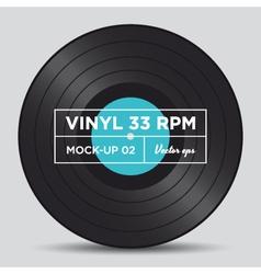 Vinyl 33 rpm mockup 02 vector