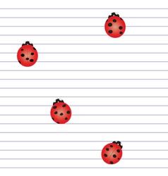 Ladybird notebook vector