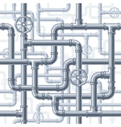 Pipes on white vector