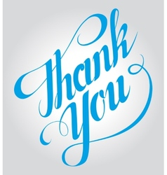 Thank you hand lettering handmade calligraphy vector